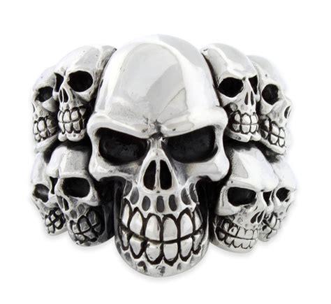 silver skull sterling silver skull ring