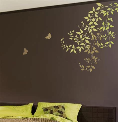 wall stencils for painting rooms wall stencil large clematis branch reusable stencil for easy