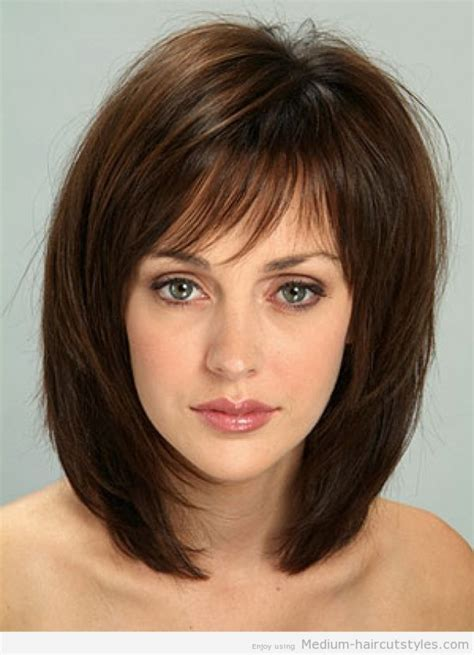hairstyles with tag medium haircuts for thin hair with bangs hairstyle