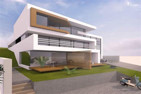 moderne villa moderne villa am hang mit 2 5 geschossen und flachdach in