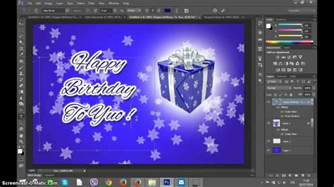 how to make a card in photoshop photoshop create happy birthday greetings card