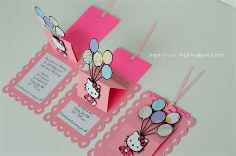 how to make pop up invitation cards hello slide up slider card balloon birthday