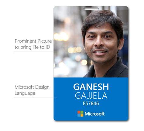 make identification card microsoft id card brand design language