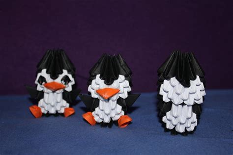 3d origami penguin 3d origami penguin procress by yinblake on deviantart