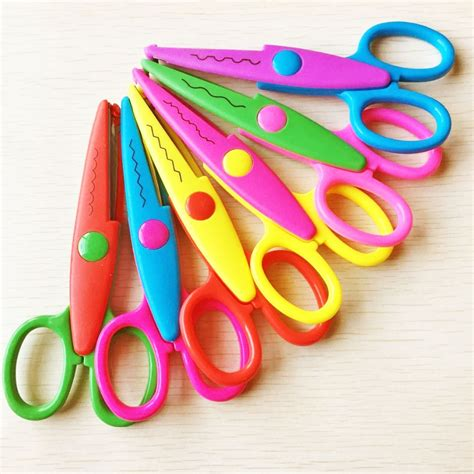 craft paper scissors aliexpress buy 6pcs per set diy craft scissors wave