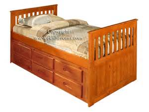 captains bed with drawers discovery world furniture honey captains bed with 6 six