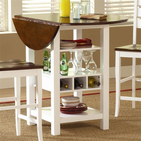 storage kitchen table ridgewood counter height drop leaf dining table with