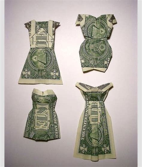 money origami wedding fold a dollar into a dress trusper