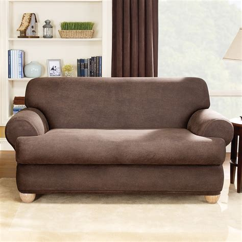 leather sofa slipcovers sure fit stretch leather t cushion two sofa