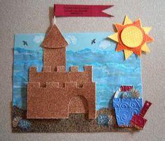 castle crafts for paper craft sand castle collage
