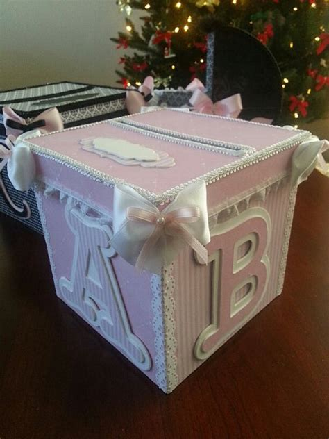 Pink And White Money Card Box Gift Card Box Baby