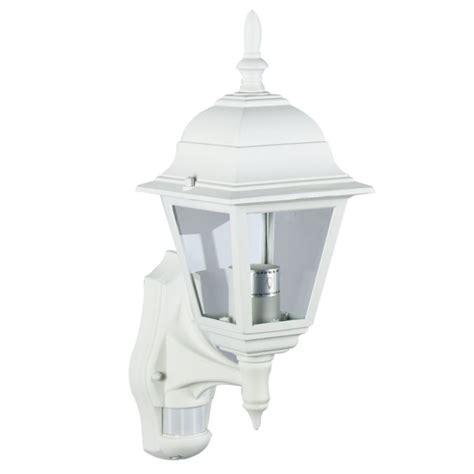 outdoor lights b q b q polperro outdoor wall light with pir in white wall