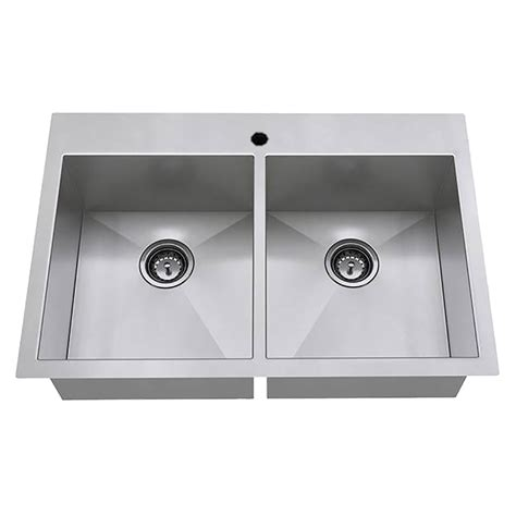 kitchen sink stainless edgewater 33x22 bowl stainless steel kitchen sink