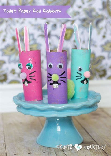 easter toilet paper roll crafts create toilet paper roll rabbits for easter toilet paper