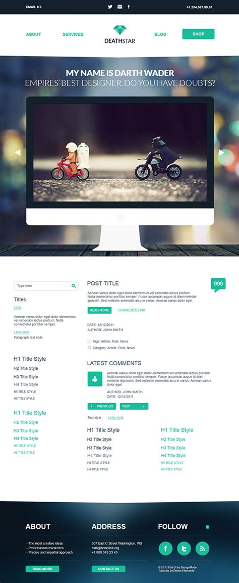 free download create a wordpress template from psd