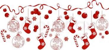 Christmas Home Design Inspiration horizontal border with traditional christmas symbols