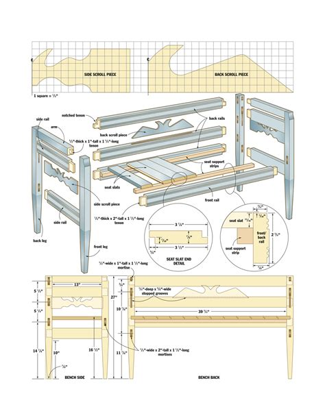 woodworking plans free pdf woodworking woodworking plans bench with back plans pdf