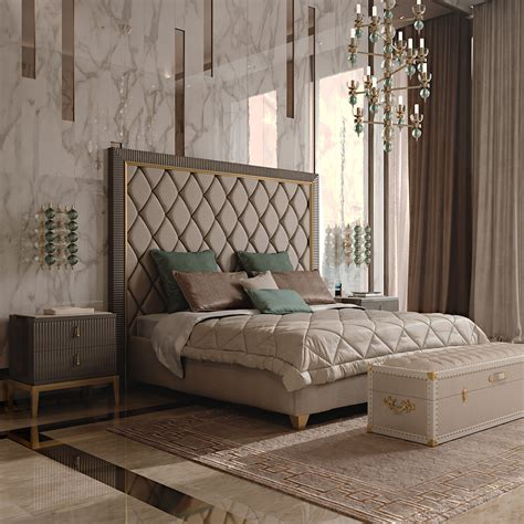 designer headboard italian designer deco inspired upholstered bed with