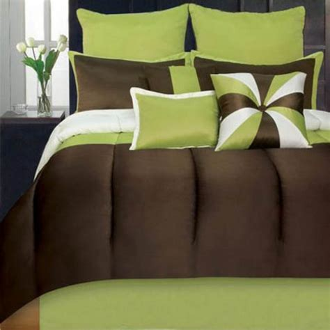 lime green and brown bedding sets new bedding by hallmart hallmart collectibles