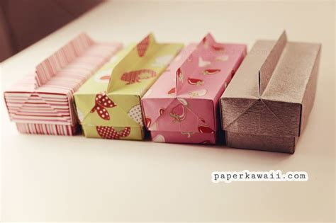 origami rectangle box with lid origami box lid with handle beautiful and