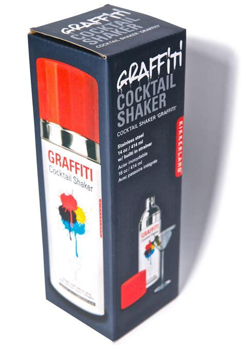 xclusive spray painting graffiti cocktail shaker dolls kill
