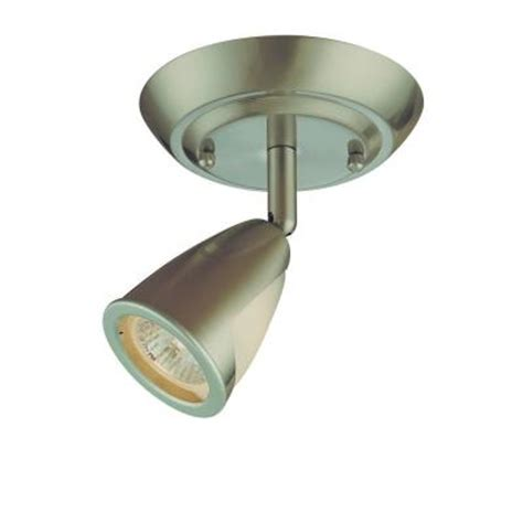 ceiling light fixtures home depot hton bay 1 light brushed steel ceiling light fixture