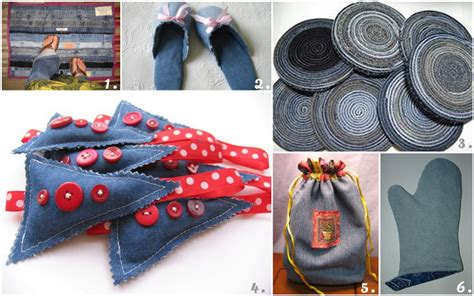 denim crafts projects kanelstrand weekend diy 6 recycled denim projects