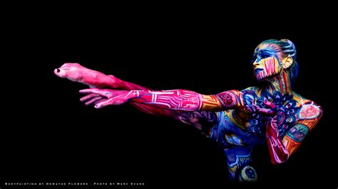 fleshandcolor painting photography by dewayne flowers skinscapes abstract bodyart and colorful painting