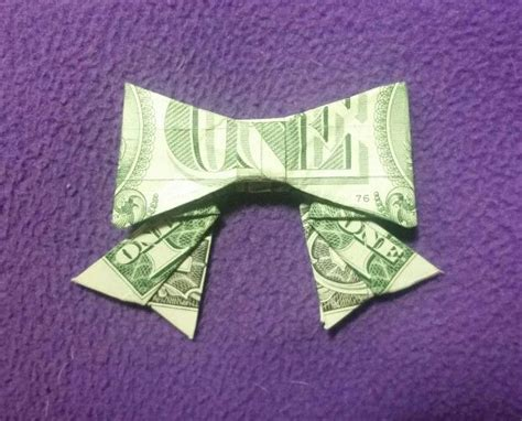 origami dollar bow tie pin by erwin mag on money origami bows