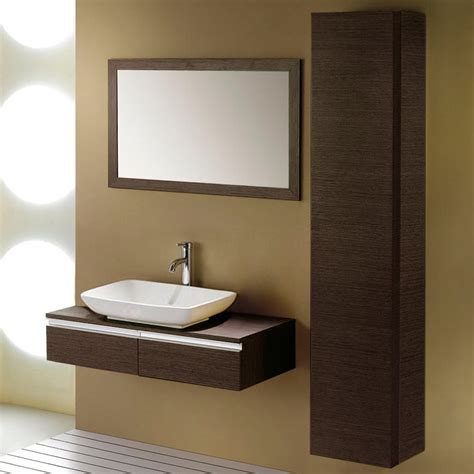 zhi wall mount console vanity for vessel sink bathroom