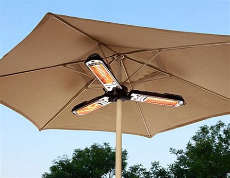 patio umbrella heater 10 cool gadgets for the patio and garden