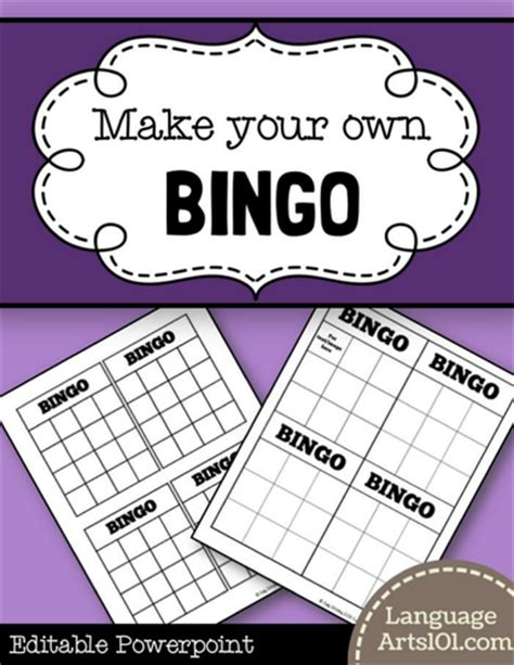 make your own picture bingo cards make your own revision by doodle dt teaching