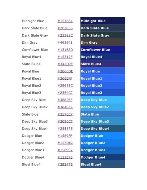 color code for midnight blue color code
