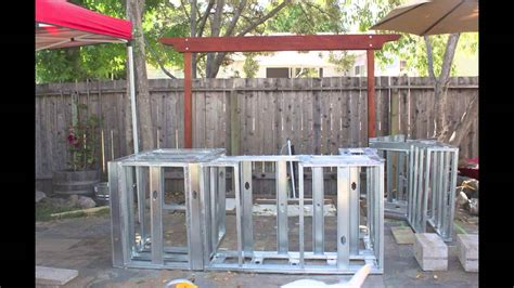 Kitchen Island Grill building an outdoor kitchen island youtube