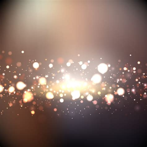 light s bokeh background with golden lights vector free
