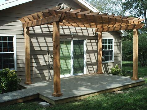 pergolas for decks decks and porches oakley portable building