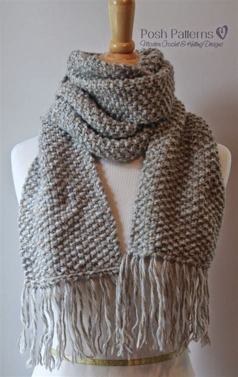 easy knit scarf pattern posh patterns easy crochet patterns and knitting patterns