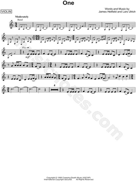 groundhog day jazz piano metallica quot one quot sheet violin in a minor
