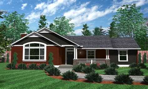 one story houses one level house plans