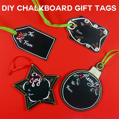 diy chalkboard tags diy chalkboard gift tags reuse every