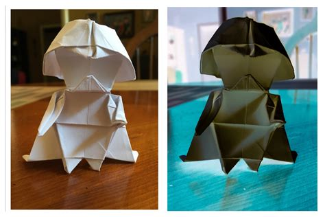 origami darth vader how to make an origami darth vader bored panda