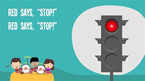 songs with light says stop song traffic safety nursery rhymes