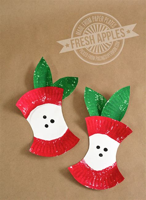 crafts for preschool easy apple craft paging supermom