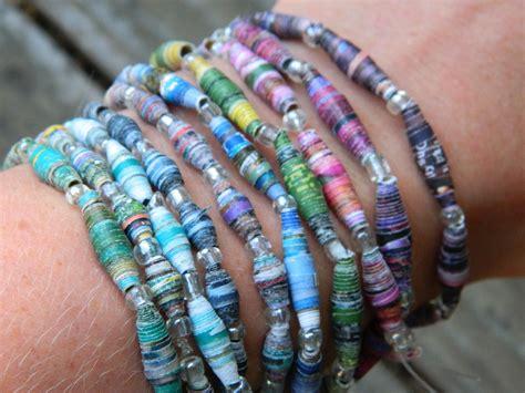 paper bead redwoodjul paper bead bracelets