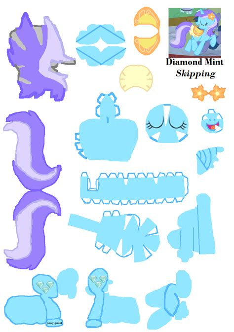 crafts with pony mint paper craft by pony pal64 on deviantart