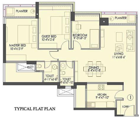flat floor plans floor plan typical flat plan 3 bhk