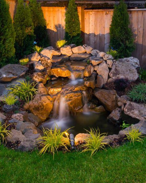 ideas for your backyard 75 relaxing garden and backyard waterfalls digsdigs