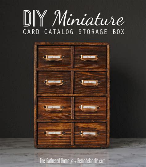 how to make a card catalog remodelaholic diy miniature card catalog storage box