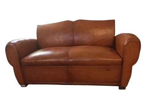 brown leather sleeper sofa 1940 s vintage brown leather sleeper sofa chairish