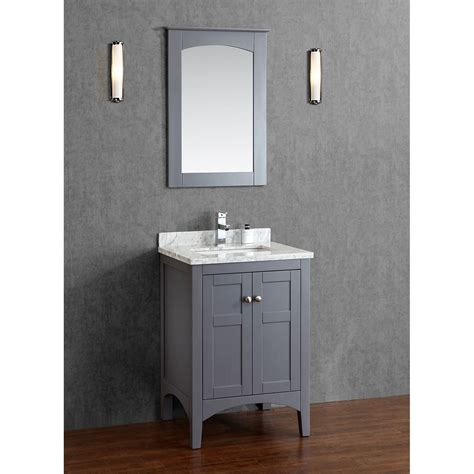 gray bathroom vanities buy martin 24 inch solid wood single bathroom vanity in